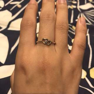 Pandora Heart to Heart Ring Size 54