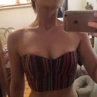 Hippy crop top boob tube minkpink