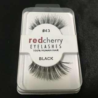 Fake lashes red cherry $6