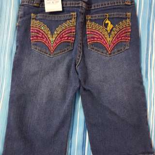 Baby Phat Girls Embroidery Knee Length Jeans