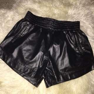 Bardot Leather Motorcycle Shorts
