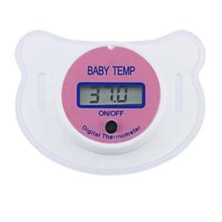 Baby pacifier thermometer (pink/blue)
