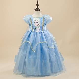 New Princess Elsa Costume Party Tutu Dress