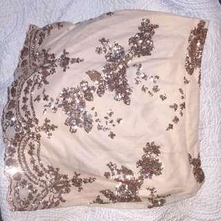 Gold champagne skirt