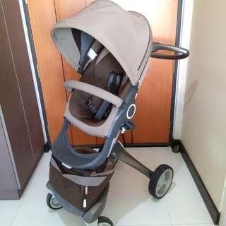 Good condition Brown  Stokke Xplory V3 Stroller Pram