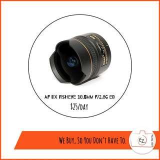 Nikon Fisheye and Macro lens Rental