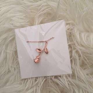 Rose Gold Rose Necklace