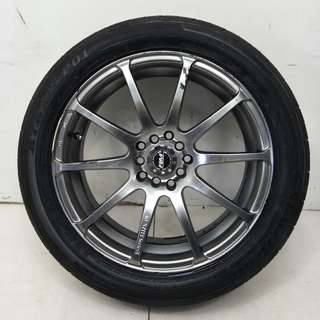17 '' Sport Rim With Tyre 5x100 5x114.3 (SR872)