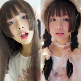 (PO) Natural Hime Cut Wig