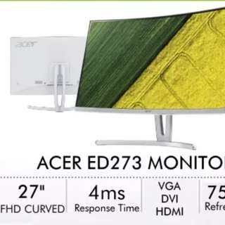 "ACER ED273 27"" Curved FHD Monitor (4 months old)"
