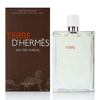Hermes Terre D'Hermes Eau Tres Fraiche EDT for Men (75ml/125ml/Tester) DHermes White