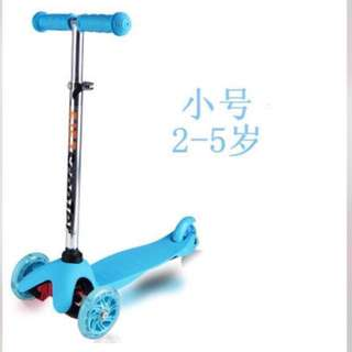 Toddler Children Kids Scooter, Kick Scooter - 2-in-1 (Export Quality, PU Light-up Wheels) - In stock