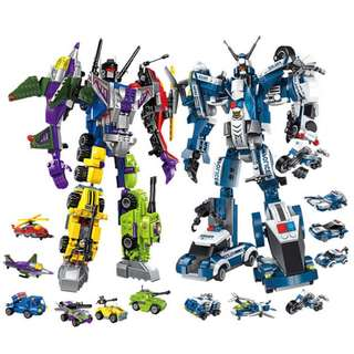 Creative Master Series Transformer Robots Building Blocks (Total 1589 Pieces)