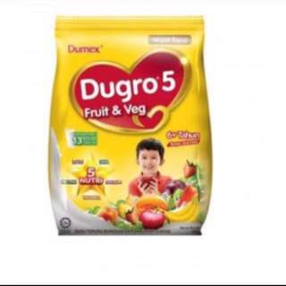 Dumex Dugro 5 Fruit & Vege EXP :03 Jun 2018