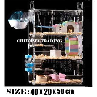 FULL ACCESSORIES【Free Gift】Habitrail Hamster House / Home / Cage Triple Story