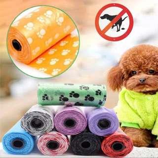 Printed paw POO bag for dog