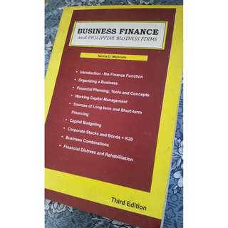 Business Finance and Phil Business Firms by N. Mejorada