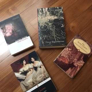 Moll Flanders, Great Expectations, Pride & Prejudice, The Secret Garden