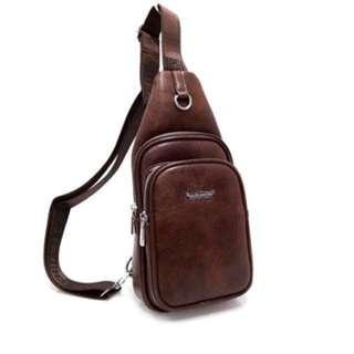 Tas Selempang Pria Dada Punggung Kulit Leather Bag Import BEST SELLER Sling Bag Tas Kerja Kantor Jalan Jalan2
