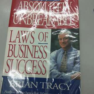 """One hundred unbreakable law to success """" brian tracy"""