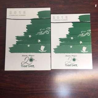 Take both 2018 Starbucks Planner (Sealed) Package