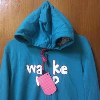 Green Hoodie Jacket / Jaket Hijau Bertopi