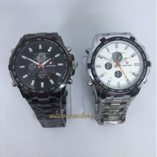 Jam Tangan Swiss Army Pria Rantal Digital Analog (Quicksilver , GC)