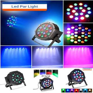 Professional Stage Lights 18 RGB PAR LED DMX512 Master-Slave Flat Projector Lamp For DJ Disco Party Lighting Specification:US Plug