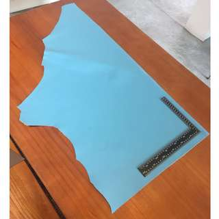 Sky Blue Saffiano Leather