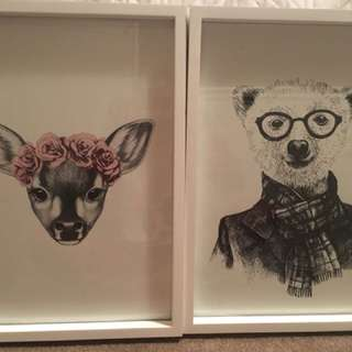 Gorgeous prints in a frame