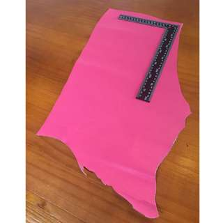 Pink Saffiano Leather