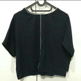 this is april navy blouse