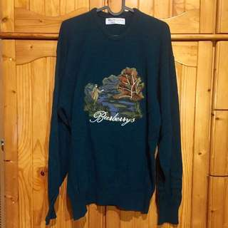 Burberrys embroidered wool knitwear vintage