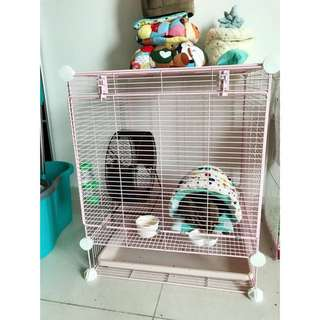 Sugar glider cage +accessories inside the cage