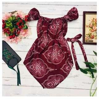 Baby Off Shoulder Romper Dress