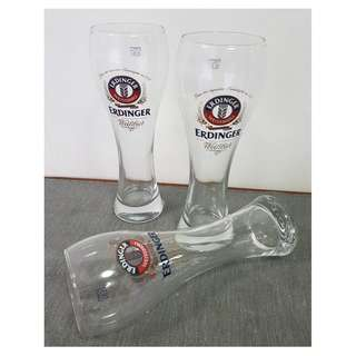 3 pieces ERDINGER 125 Jahre Beer Glass 0.5L