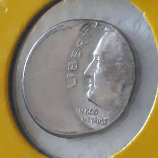 For Sharing Only - USA Off-Centred One Dime Coin