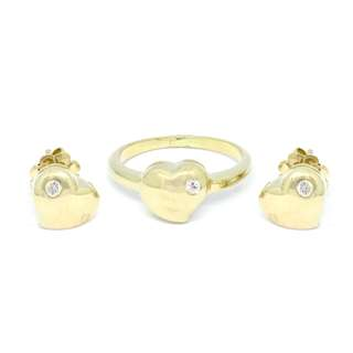 Terno - Ring and Earrings with diamonds
