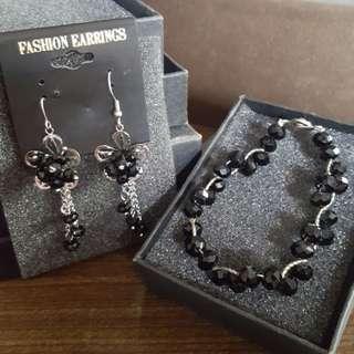 🆕️Swarovski-inspired Jewelry Set (Swarovski bracelet and earrings)