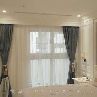 各式窗簾、壁紙、地磚、拉門