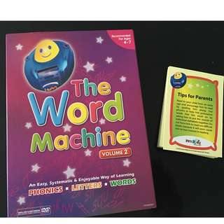The Word Machine Dvd Volume 2 with Learning Cards