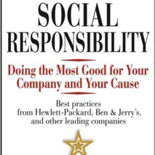 Corporate social responsibility - Philip Kotler & Nancy Lee