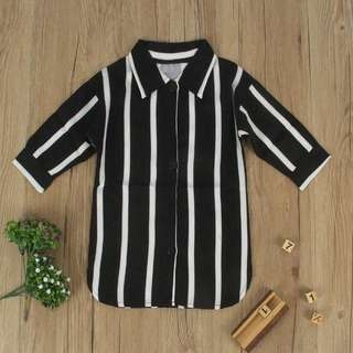 Stripe BW Dress