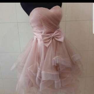 custom party dress dusty pink