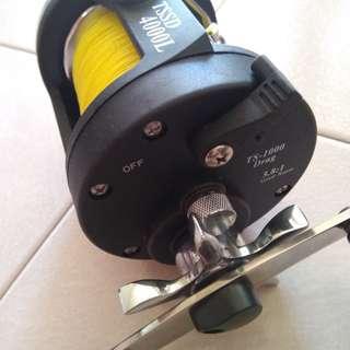 Fishing reel precision drag reel