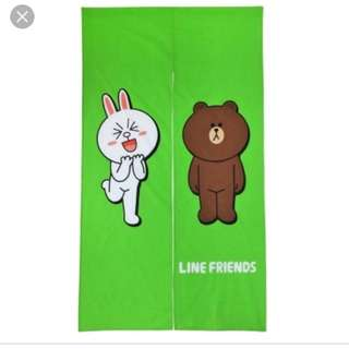 台灣代購 line 熊大 門簾 brown line friends