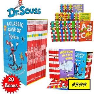 A Classic Case of Dr Seuss 20 paperback books set