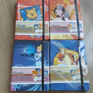 Disney Notebooks With Elastic Strap