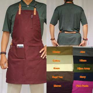 Apron Barista Barberman tali Synthetic Leather model Necklace