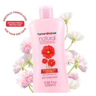 Protection for Red Days Feminine Wash 100ml by HUMAN❤NATURE